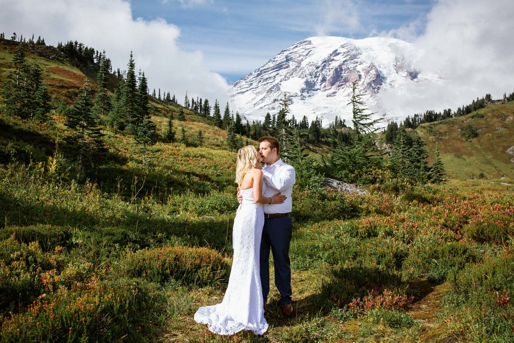Apple Brides Magazine - Heartfelt and Sentimental Intimate Vow Renewal at Mt. Rainier