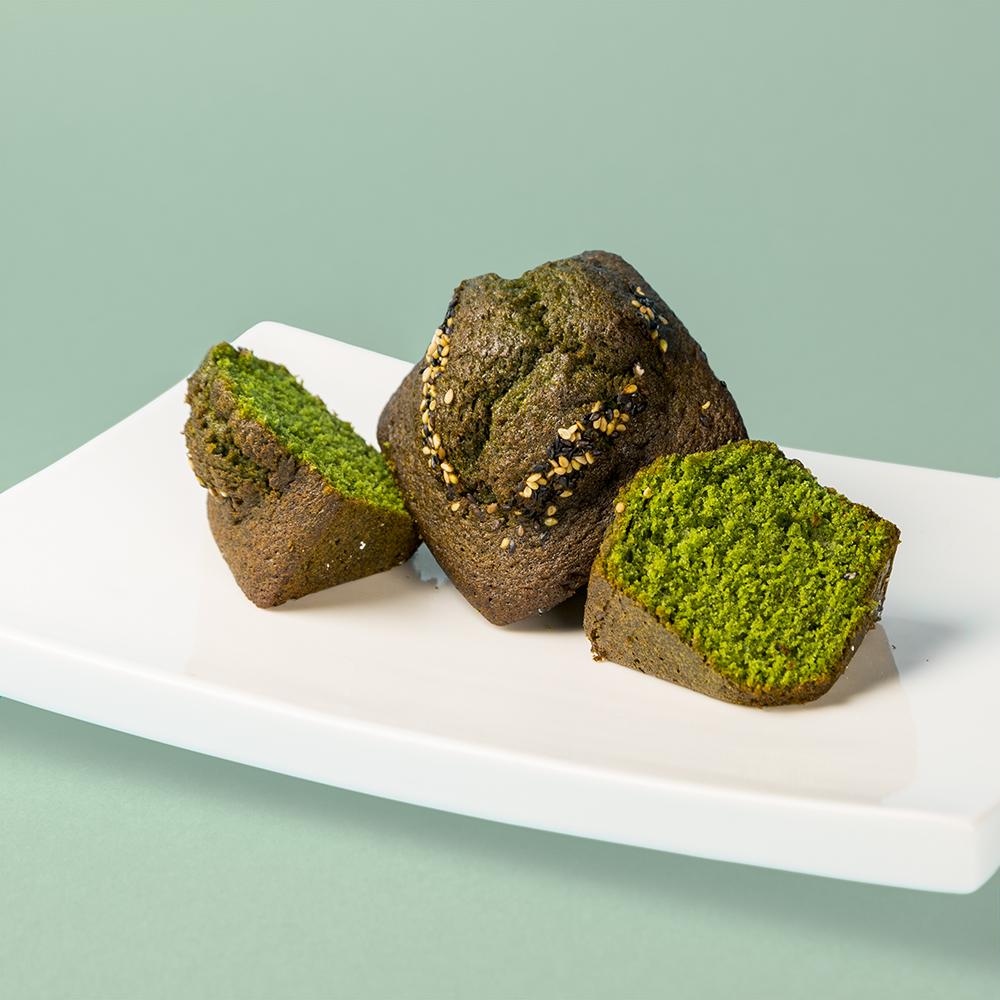 Magdalena de té verde