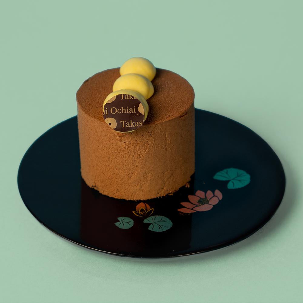 Mousse de chocolate y fruta de la pasión