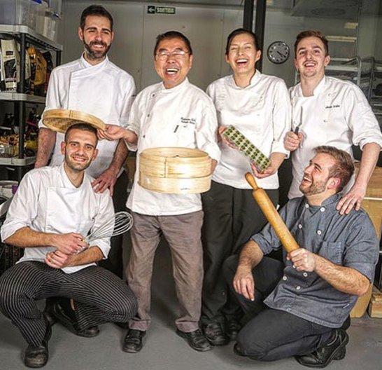 L'equip de l'obrador de la pastisseria