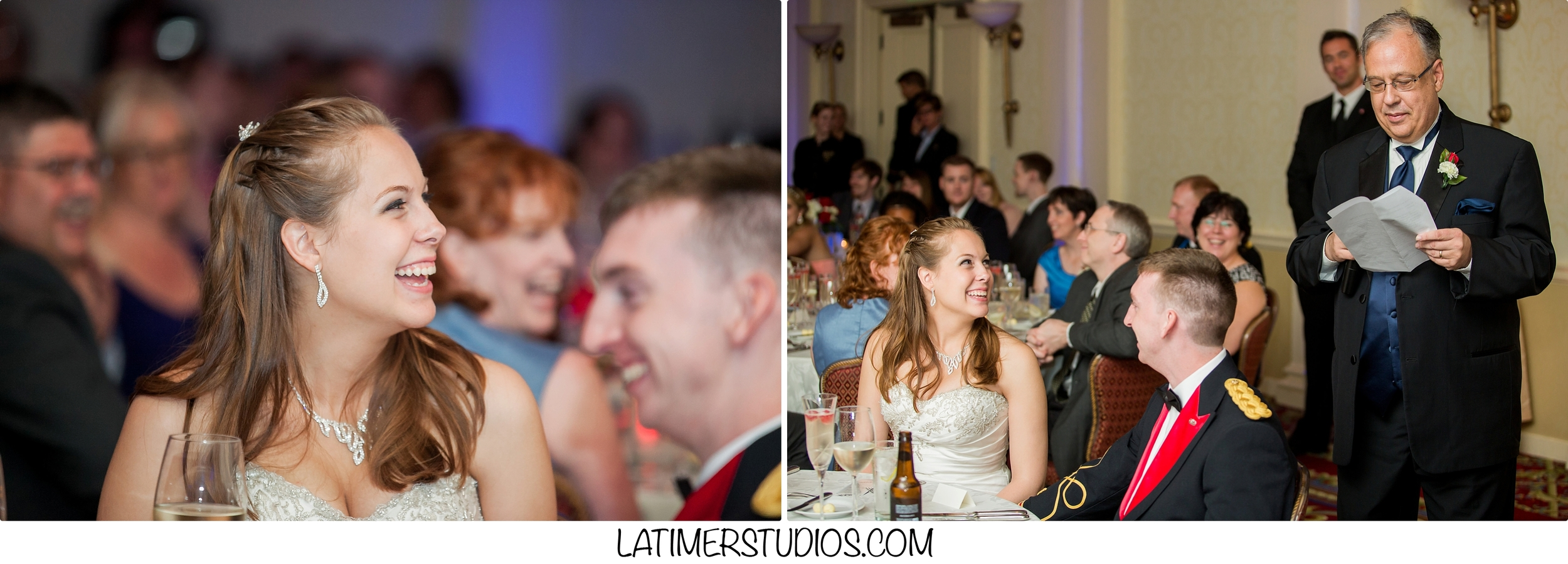 Latimer Studios Photography capturing wedding toast at Wentworth by the Sea in Rye NH