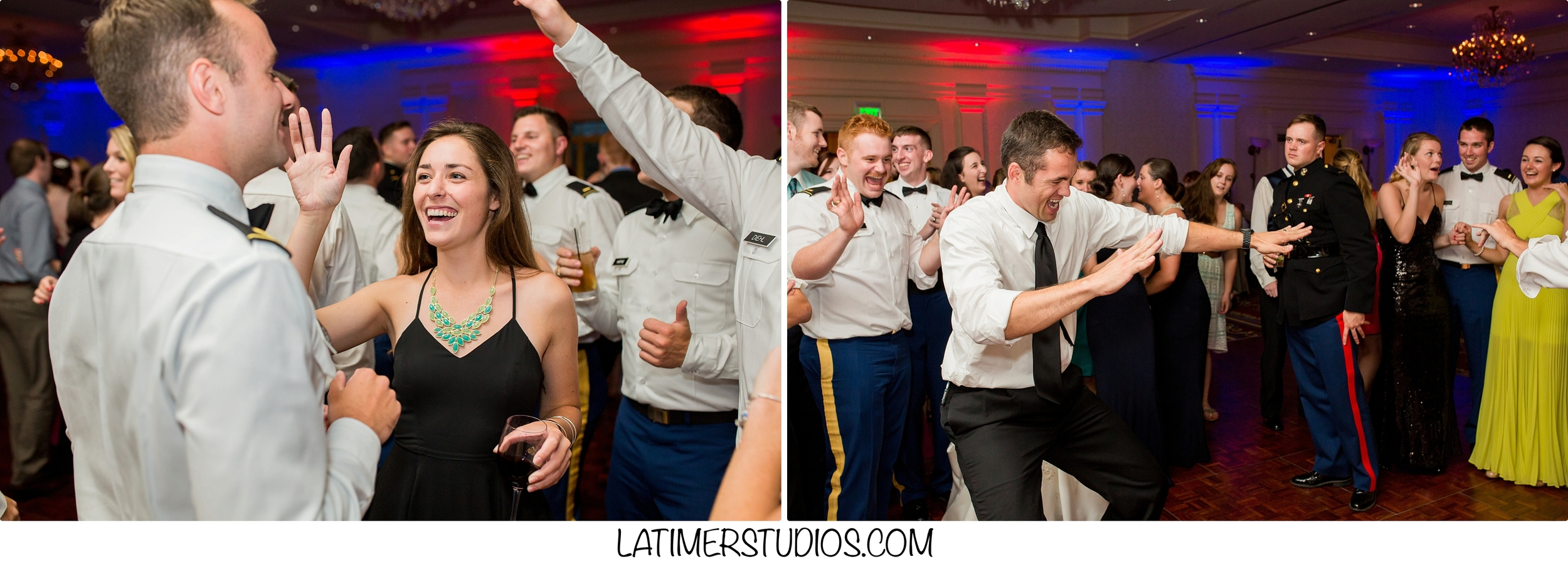 Latimer Studios Photography capturing dancing at a wedding at Wentworth by the Sea in Rye NH