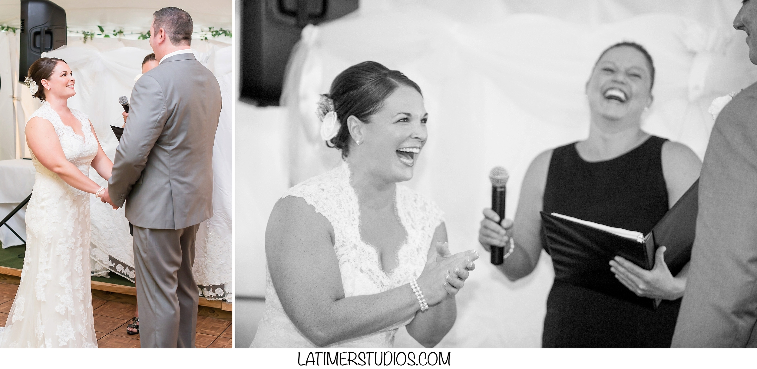 Latimer Studios Photography capturing a ceremony at a  wedding at Mile Away Restaurant in Milford NH