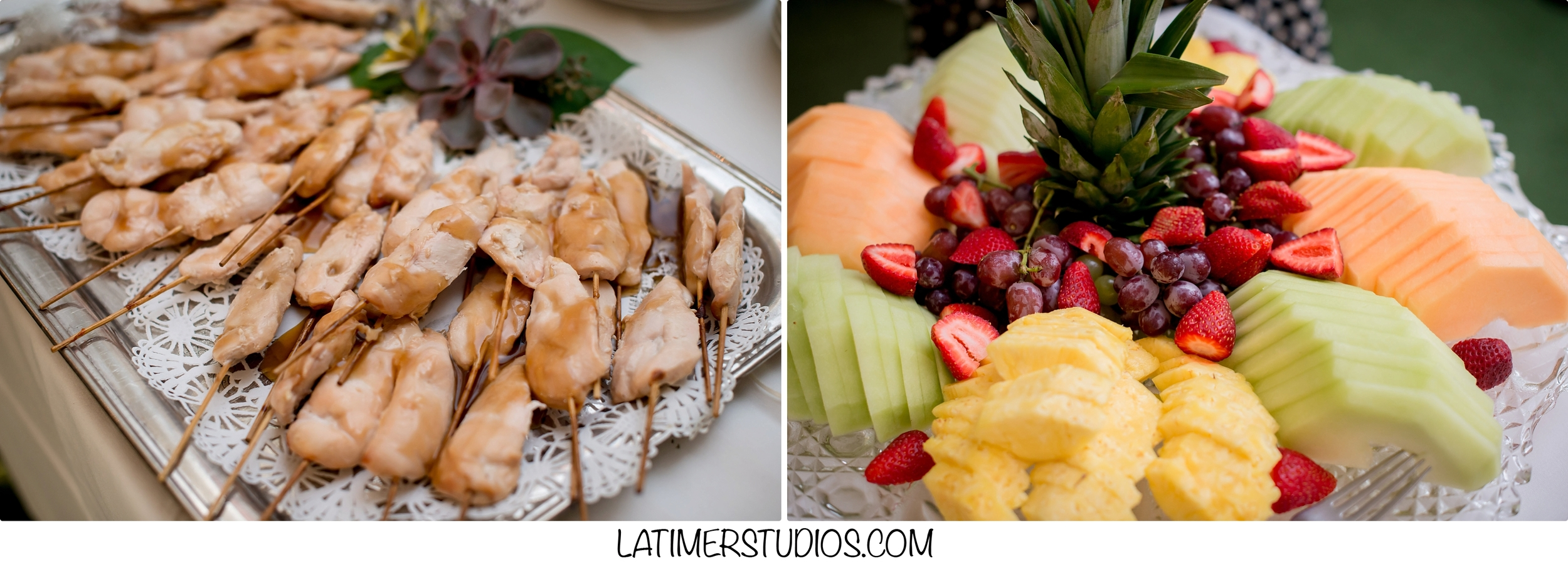 Latimer Studios Photography capturing  food at a wedding at Mile Away Restaurant in Milford NH