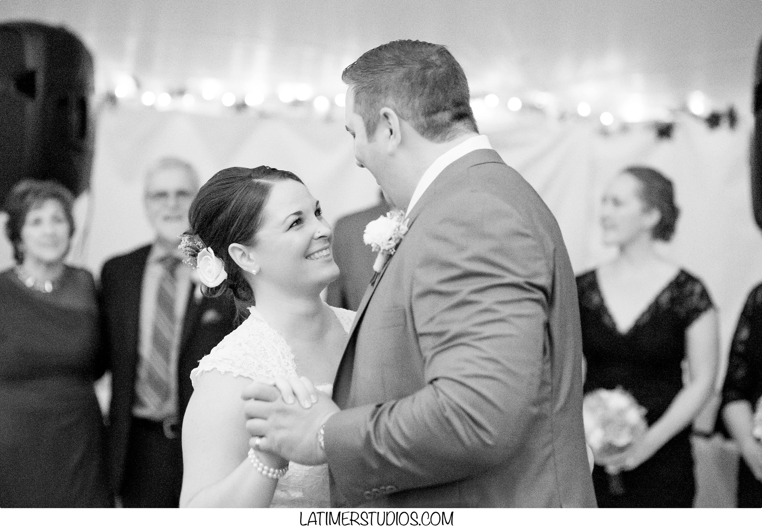 Latimer Studios Photography capturing  a first dance at a wedding at Mile Away Restaurant in Milford NH