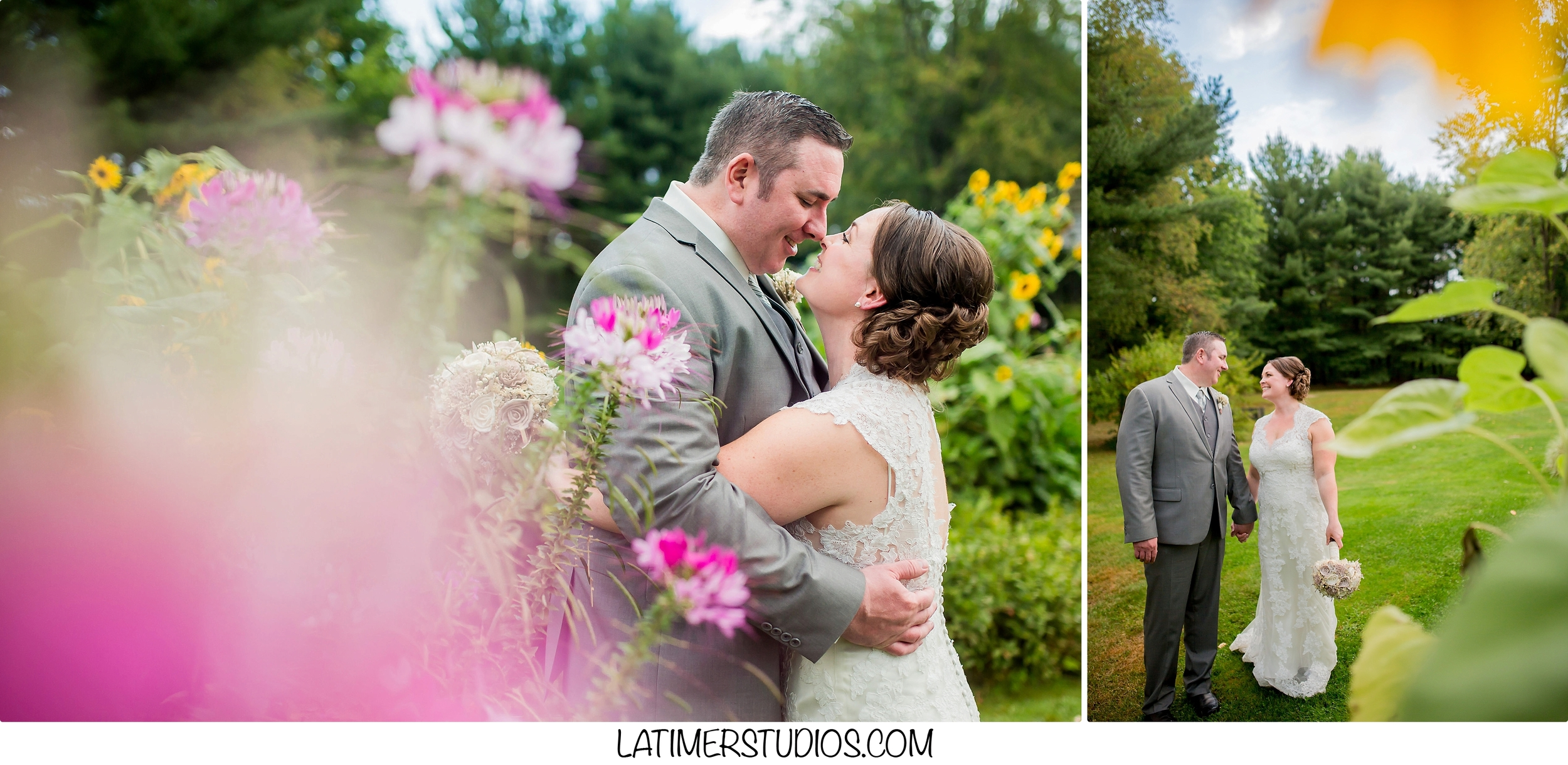 Latimer Studios Photography capturing  a bride and groom at a wedding at Mile Away Restaurant in Milford NH