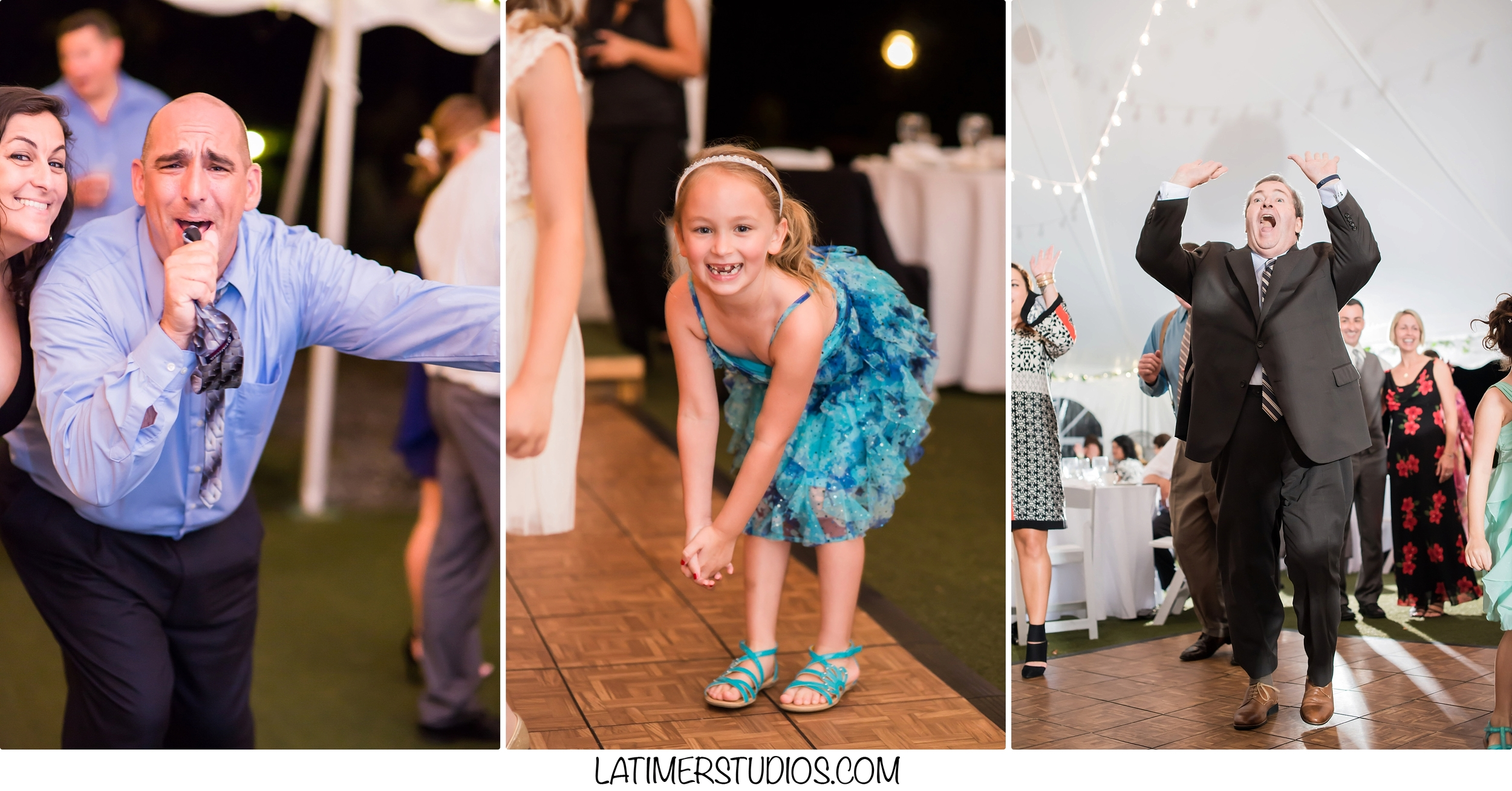 Latimer Studios Photography capturing  dancing at a wedding at Mile Away Restaurant in Milford NH