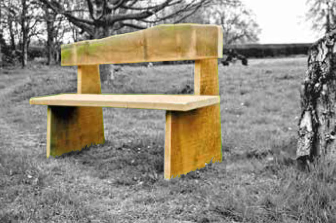 Bovingdon rustic oak bench by RoughStuff
