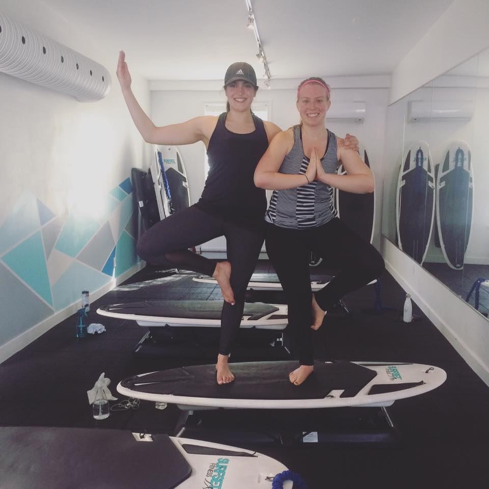 Emily and I at the Surfset studio - smiling after our workout!