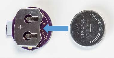 Proto #1 - removeable rechargeable coin-cell battery