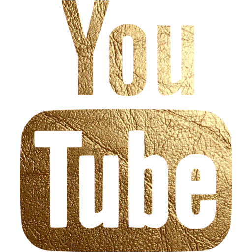 Gold YouTube Logo