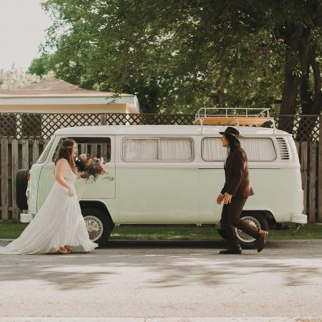 we can't even with these two!! 💕every little detail of this wedding was just simply 👌 and so authentic to them! check out these lovebirds and their badass vendors today on @junebugweddings!! [link in profile] #VWbus #vannagram #vannagramwedding ———————————————————————— Photography: @fromthedaisies  Day of Coordination: @pinkparasoldc  Venue: @thecarringtonbuda  Floral Design: @blumenfloral  Hair: @koobies  Makeup: @beth.bot  Catering: @peachedtortilla  Cake: @sweettreetsbakery  DJ: @liveoakdj  VW: @vannagramatx  Invitations: @celestecclark  Wedding Dress: @unbridaled  Groom Apparel: @express @goorinbrossoco  Favors: @evaduplanar