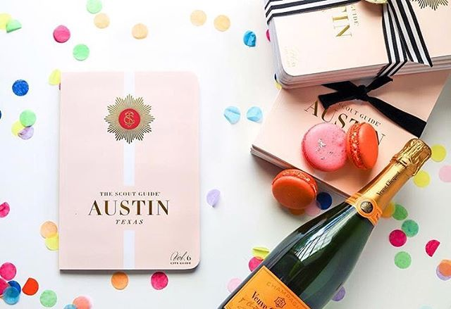 SCOUT IS OUT!! 🎉 we're starting the weekend early and poppin' bottles today because we are beyond thrilled to be one of 50 local businesses featured in #tsgaustinvolume6! 🍾🥂 go get your copy today and check out all of the local gems we have in our fine town!! BIG KUDOS to @tsgaustin for producing such a beautiful piece of art!! 👏👏👏 #tsgaustin #thescoutguide #cityguide