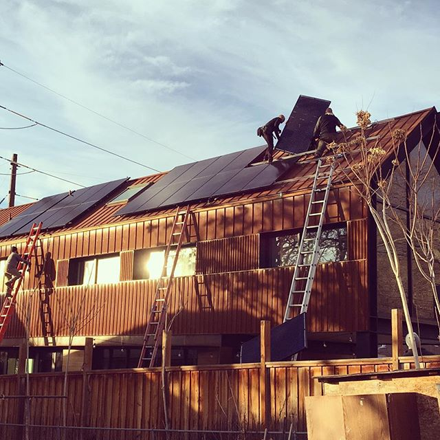 Is that Santa's reindeer we hear on the roof of the McClelland Residence?  Nope.  Better.  It's the sound of the installers from @1solar turning sunlight into energy.  Merry Christmas, Mother Earth.