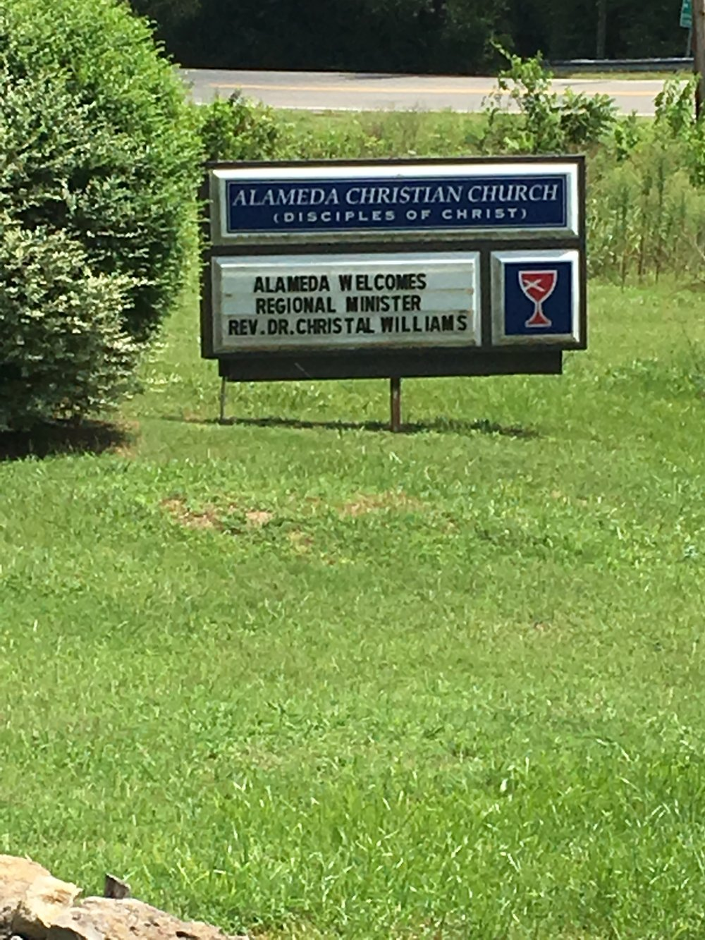 Dr. Williams visits Alameda Christian Church 8/7/16