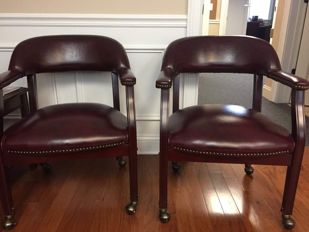 Reception Chairs  $275 (pair) obo