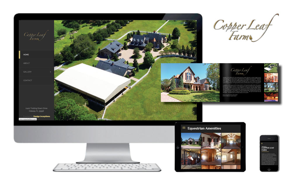 Working directly with the owner of Copper Leaf Farm and her real estate agent, we utilized our longstanding expertise in real estate marketing and created a custom logo, website and brochure that emulates this gorgeous $2.95m equestrian estate. Other services provided include marketing automation and a targeted (equestrian) press release. _________________________________________________________________________________________________________________________________________________________________