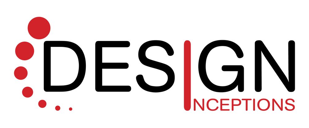 "Jessica Henson, the Creative Director/Principle of Design Inceptions, created the DI logo with one main focus/meaning — creation through thought. Creation is represented within the name itself — ""INCEPTIONS."" Thought is represented with the icon at the far left of the logo, which is a sophisticated representation/interpretation of ""thought bubbles."" The font used was selected because of Jessica's love of minimal, clean design, rounded corners and sanserif fonts. _________________________________________________________________________________________________________________________________________________________________"