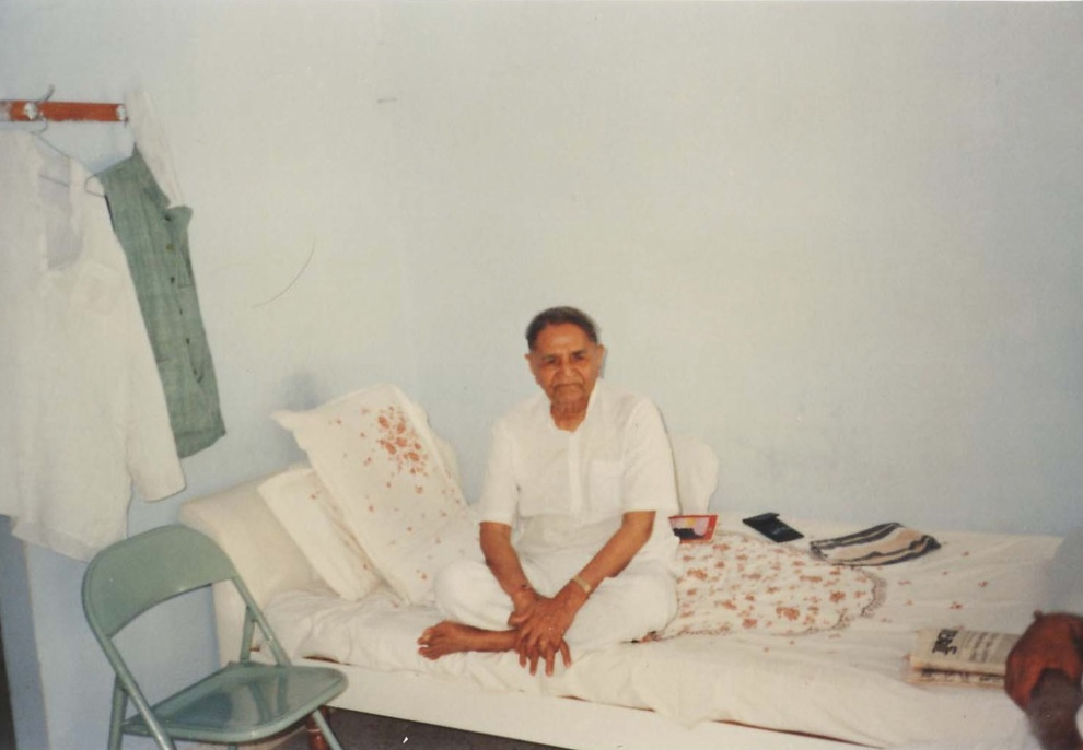 Bapuji in his room.jpg
