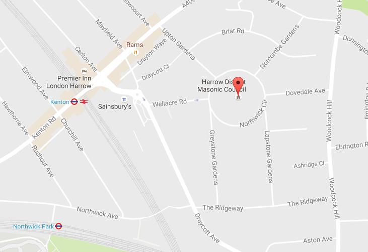 Map Kenton Masonic Lodge Northwick Circle.png