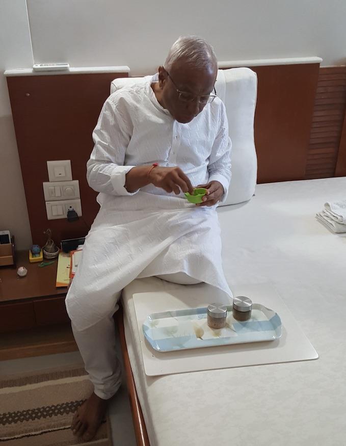 Bhaishree eating Tulsi.jpg