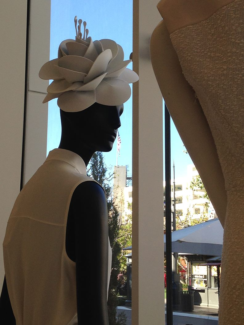 Nordstrom Fashion Flower Hats for Window Display in select USA and Canadian stores  Kate Cussak, Designer