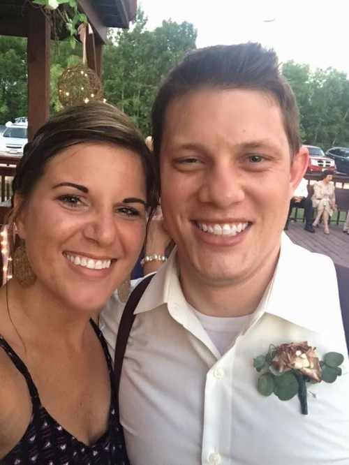 Our director Bethie (left) and Ryan (right) at a mutual friend's wedding!