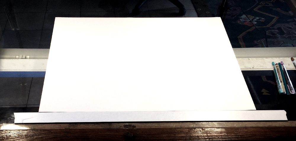 Sometimes a blank page can be really freakin' scary.