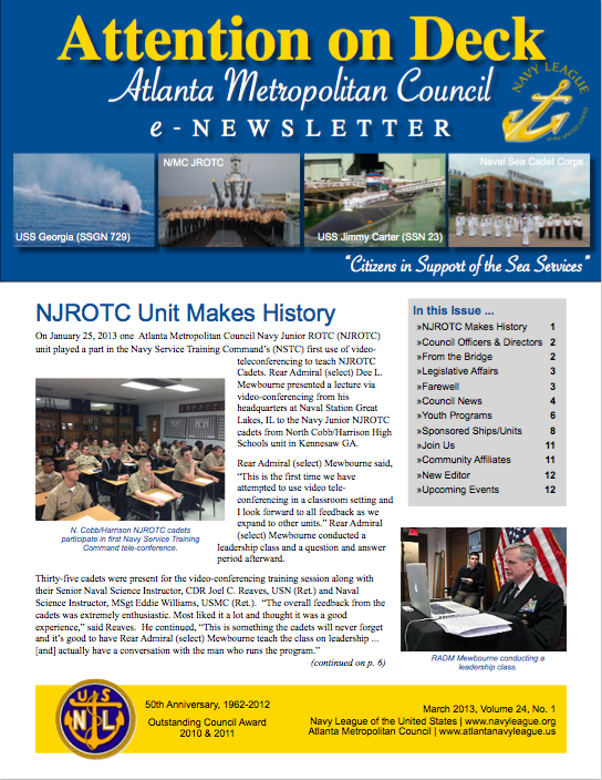 1ST QUARTER NEWSLETTER
