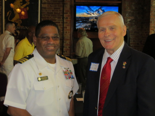 Outgoing NRD Atlanta Commanding Officer CDR Steven Maxwell with Council VP Legislative Affairs Don Giles