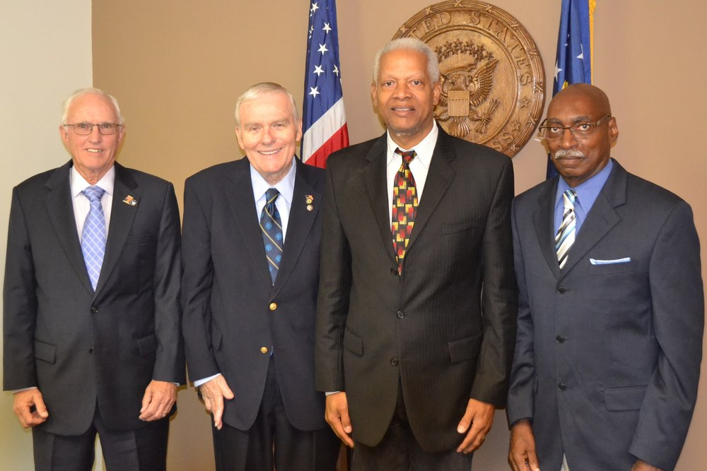 L-R: Dale Mastley, Don Giles, Congressman Hank Johnson, and Bill Wilkerson.