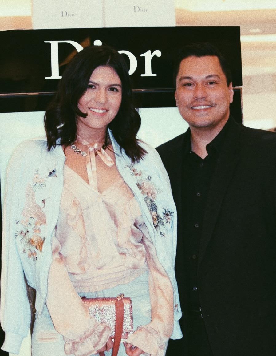 with Dior's MUA Jeffery Sanchez