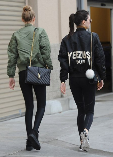 GIGI HADID AND KENDALL JENNER IN YSL