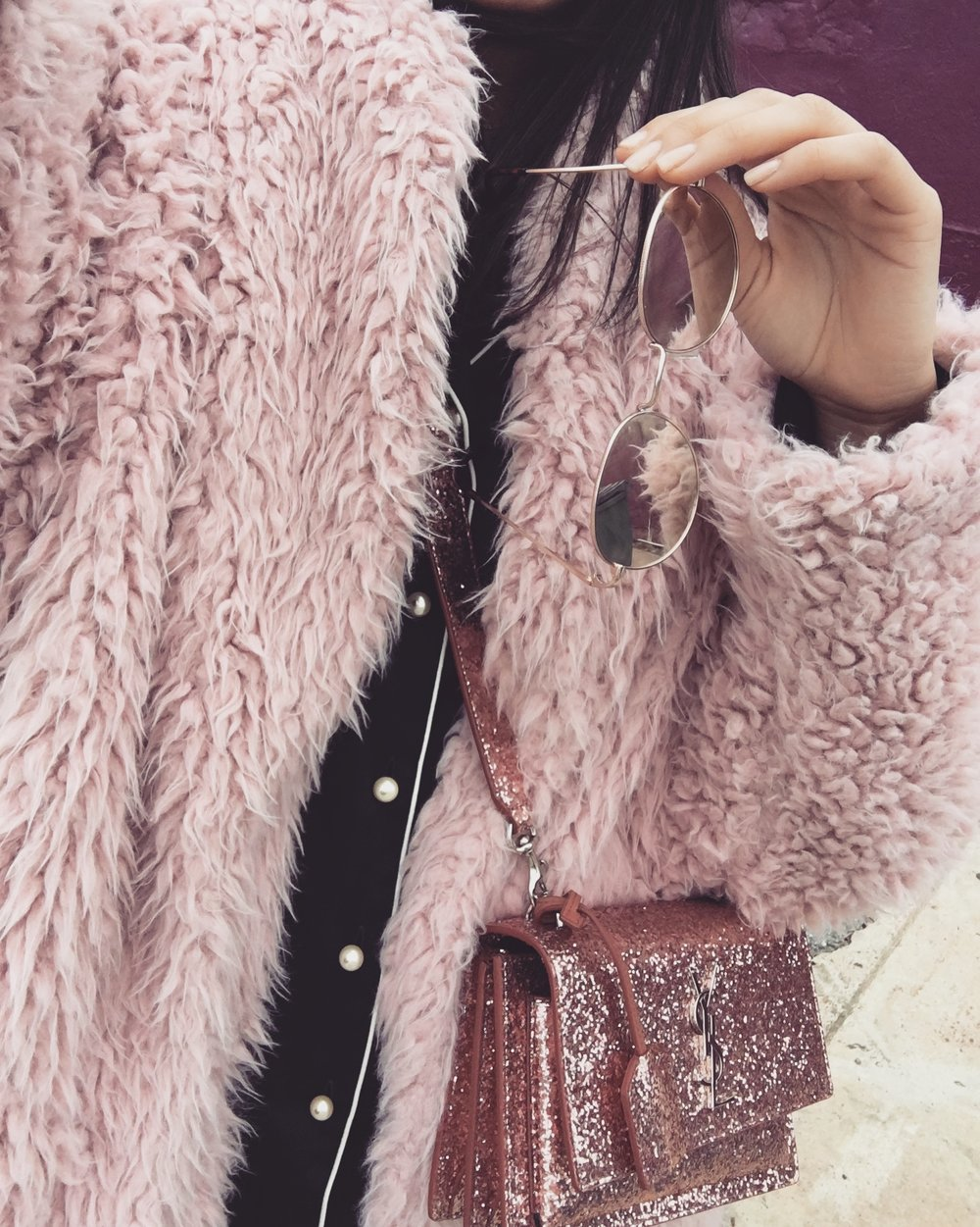 PEARL BUTTONS  - + PINK TEDDY COATS