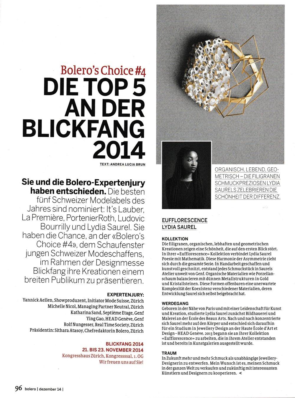 BOLERO Magazine 2014