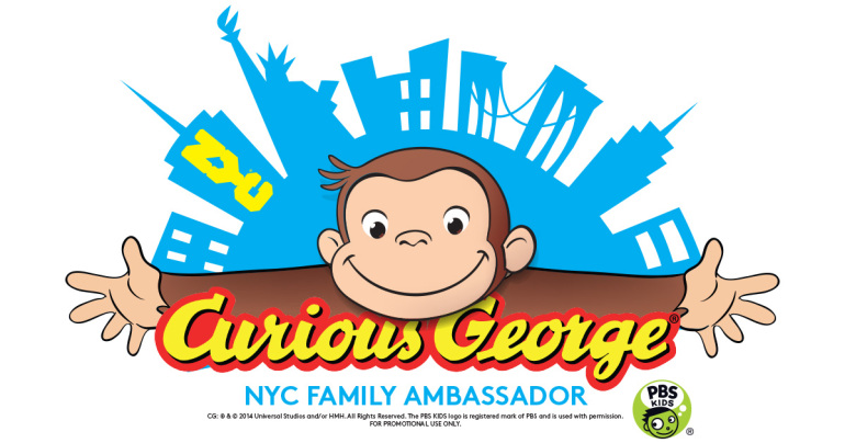 Custom logo for Curious George partnership