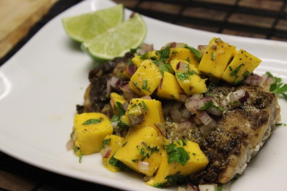 jamaican jerk fish mango salsa 75