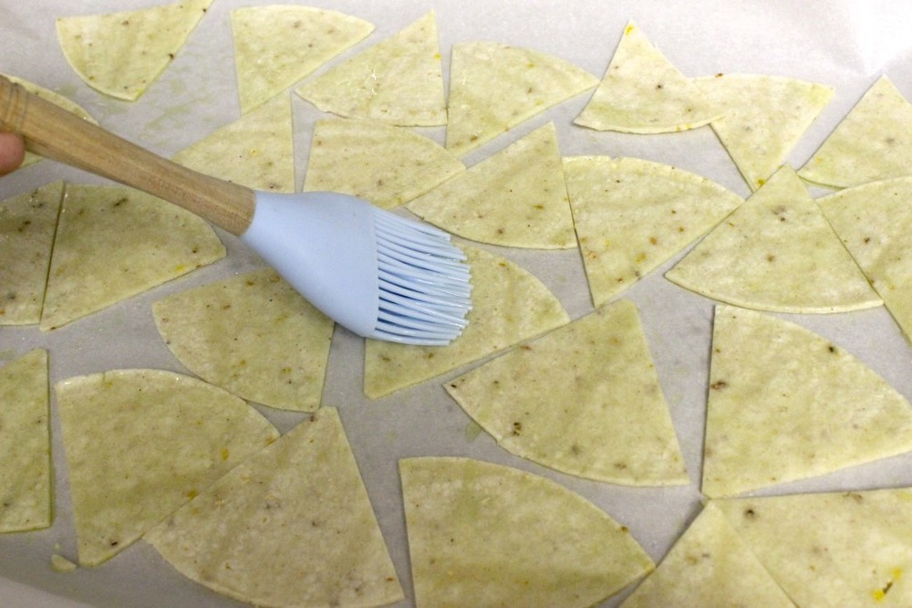 homemade gluten free baked tortilla chips 5