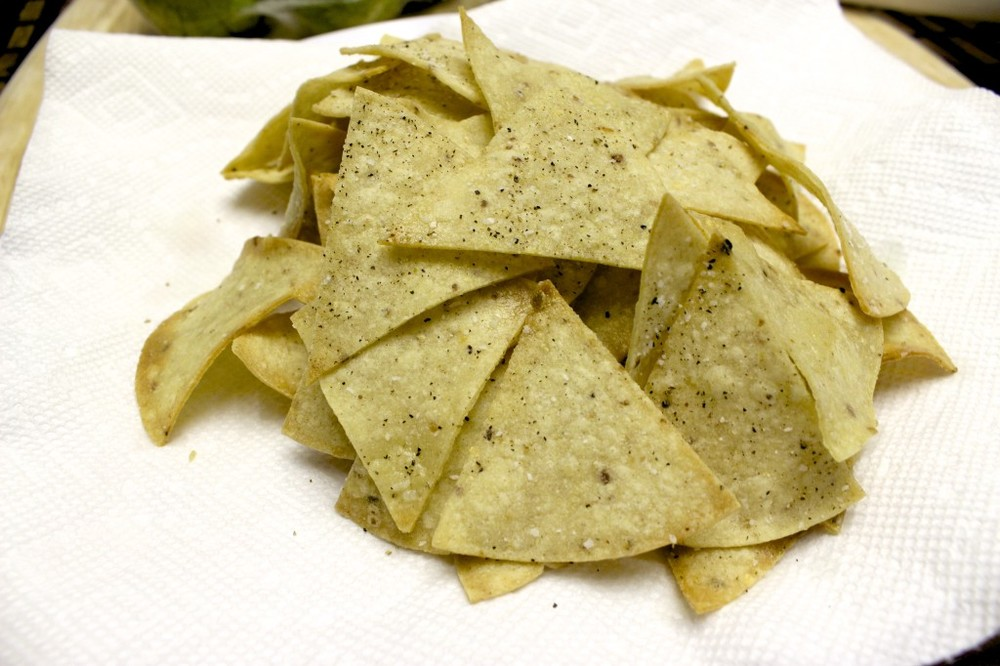 homemade gluten free baked tortilla chips 9