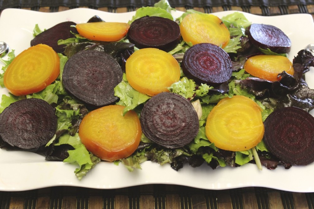 beet goat cheese salad orange thyme vinaigrette 57