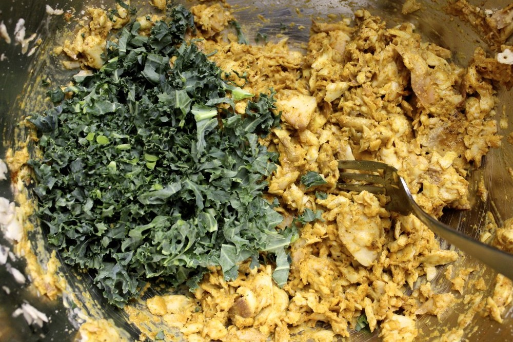 kale fish cakes ginger lime tartar sauce 12