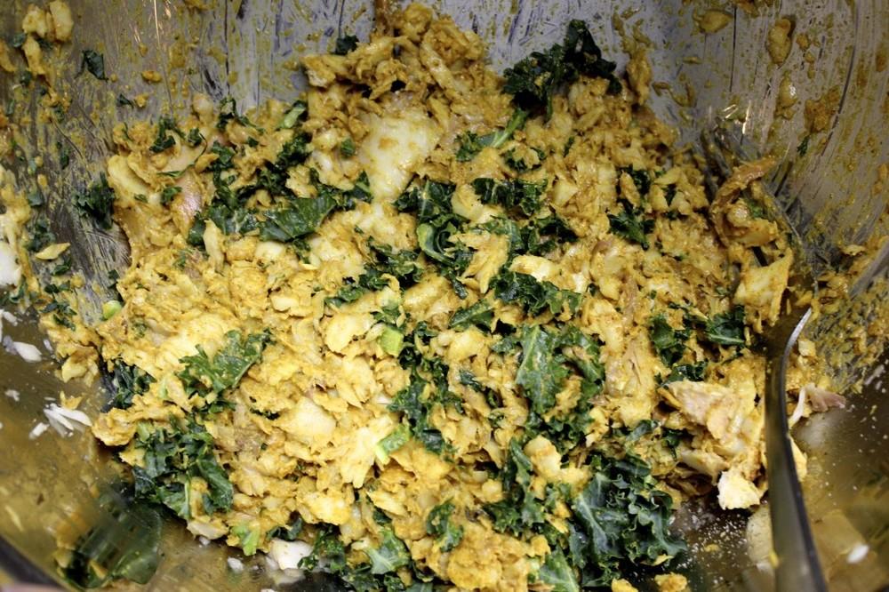 kale fish cakes ginger lime tartar sauce 13
