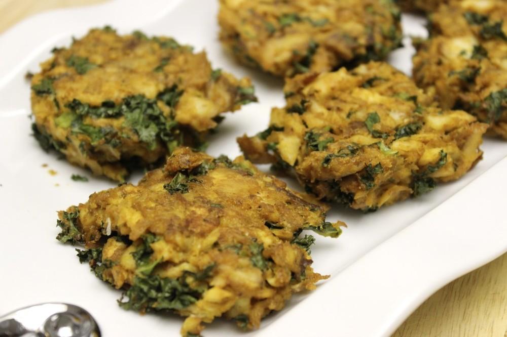 kale fish cakes ginger lime tartar sauce 16