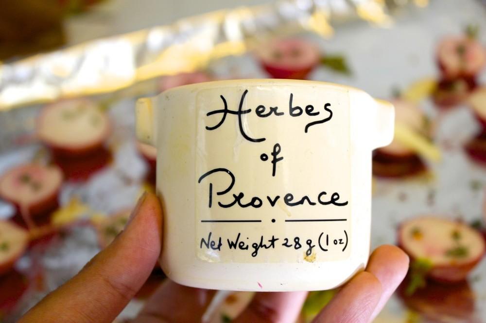 herb roasted radishes 40