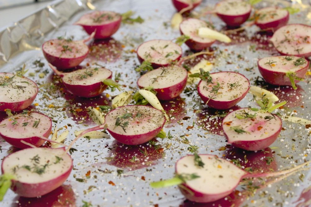 herb roasted radishes 42