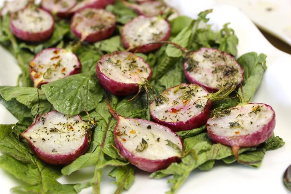 herb roasted radishes 58