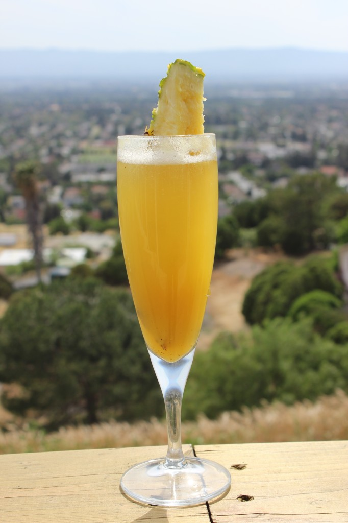papaya chutney pineapple champagne cocktail 22