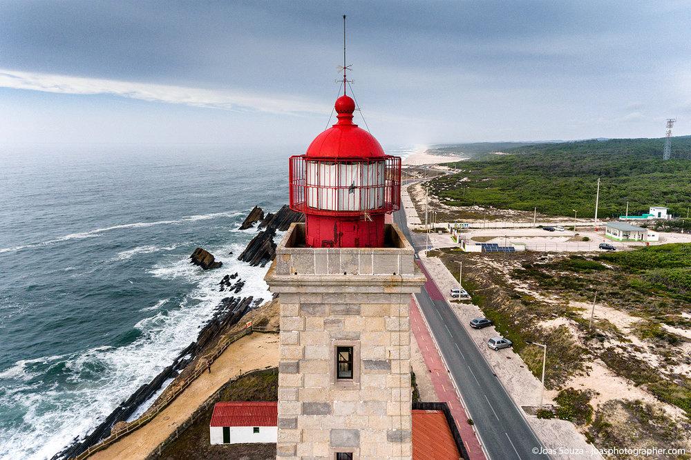 Fotografias aéreas do Farol Penedo da Saudade, Portugal