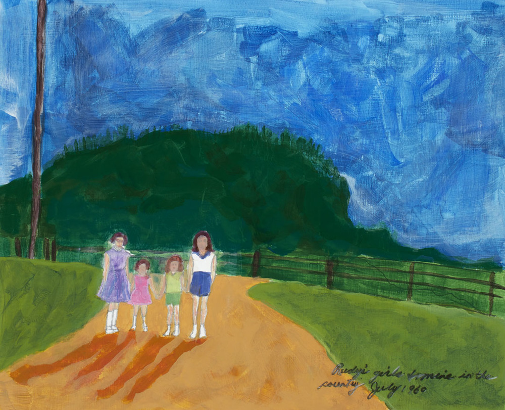 """Rudy's Girls and Mine - 19x15"""" sold"""