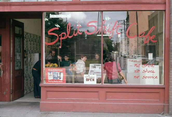 As a member of The Girl Artists 1980-1988.   Split Shift Cafe , performed in Seattle and Portland, 1980.